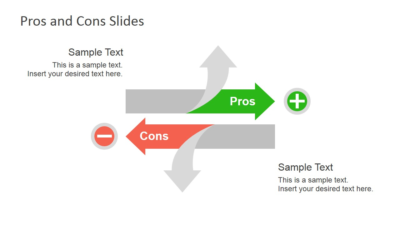 pros & cons slide diagrams for powerpoint - slidemodel, Powerpoint templates