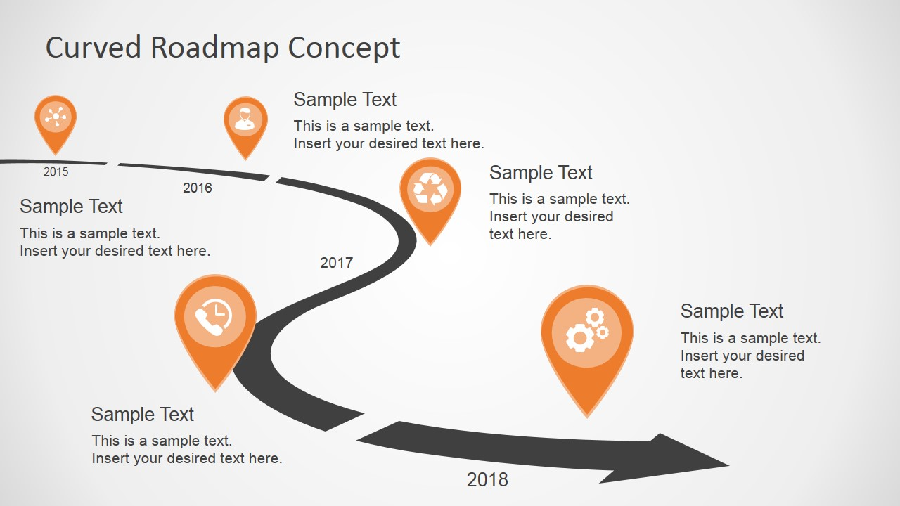 how to draw roadmap in powerpoint