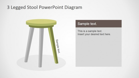 Wooden Stool PowerPoint Shapes