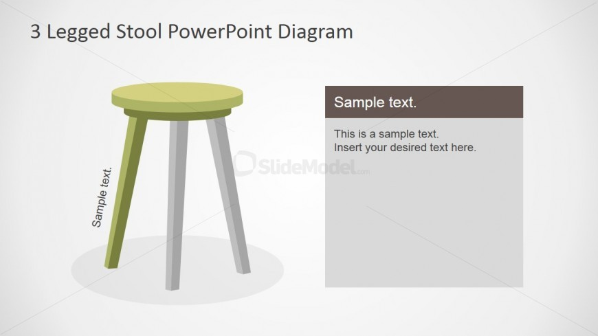 PowerPoint Diagram of Wooden Stool