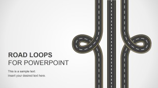 Road Loops Illustration Design for PowerPoint