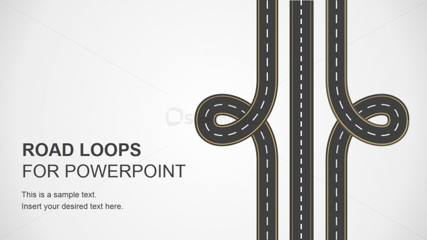 Road loops illustration design for powerpoint slidemodel for Home architecture analogy