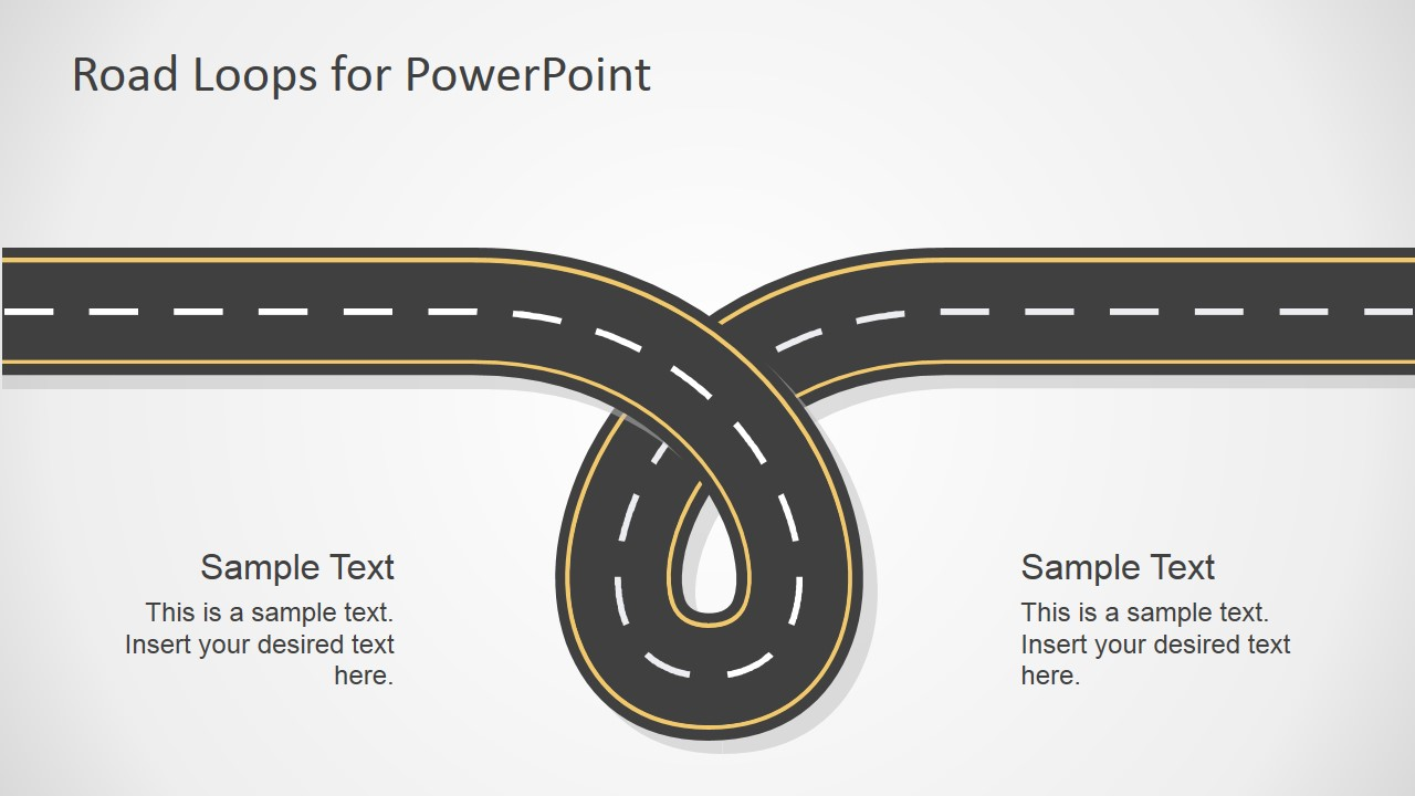 road loops powerpoint template slidemodel