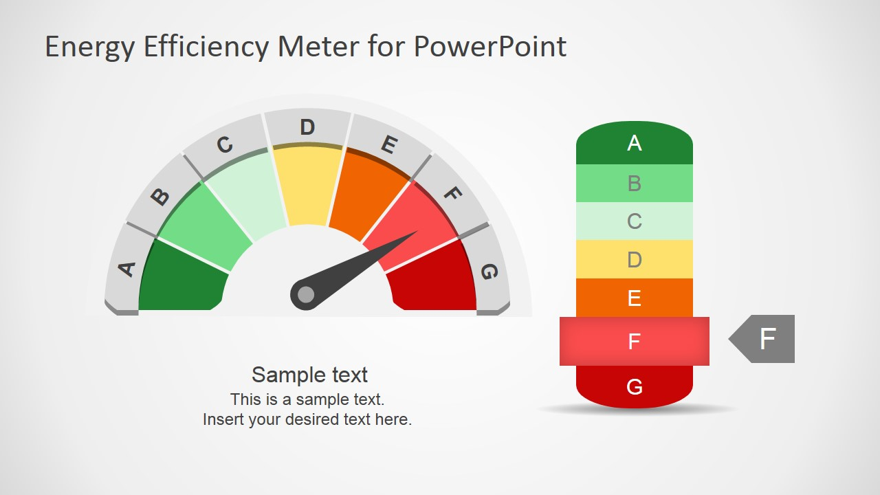 Energy Efficiency Meter Shapes For Powerpoint