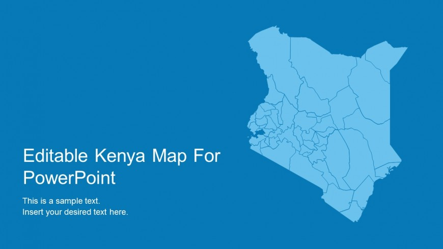 PowerPoint Slide Design Cover of Kenya Map