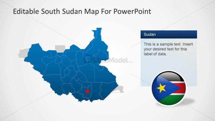 Silhouette Map of South Sudan