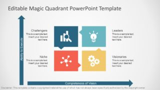 PowerPoint Gartner Magic Quadrant Flat Design