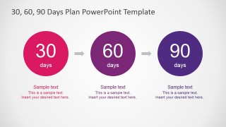 30 60 90 Days Plan PowerPoint Diagram