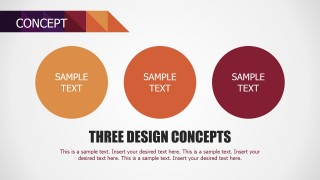 PowerPoint Three Circles Concept Section of Small Business Template