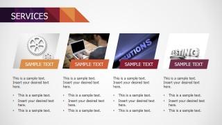 Small Business PowerPoint Deck 4 Tiles Vertical Description