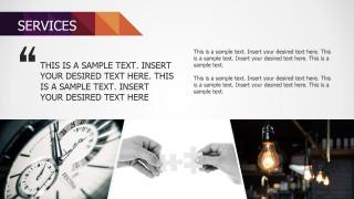 Small Business Service Description Flat Photo Banner