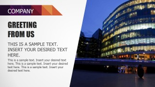 PowerPoint Slide Featuring Corporate Greetins