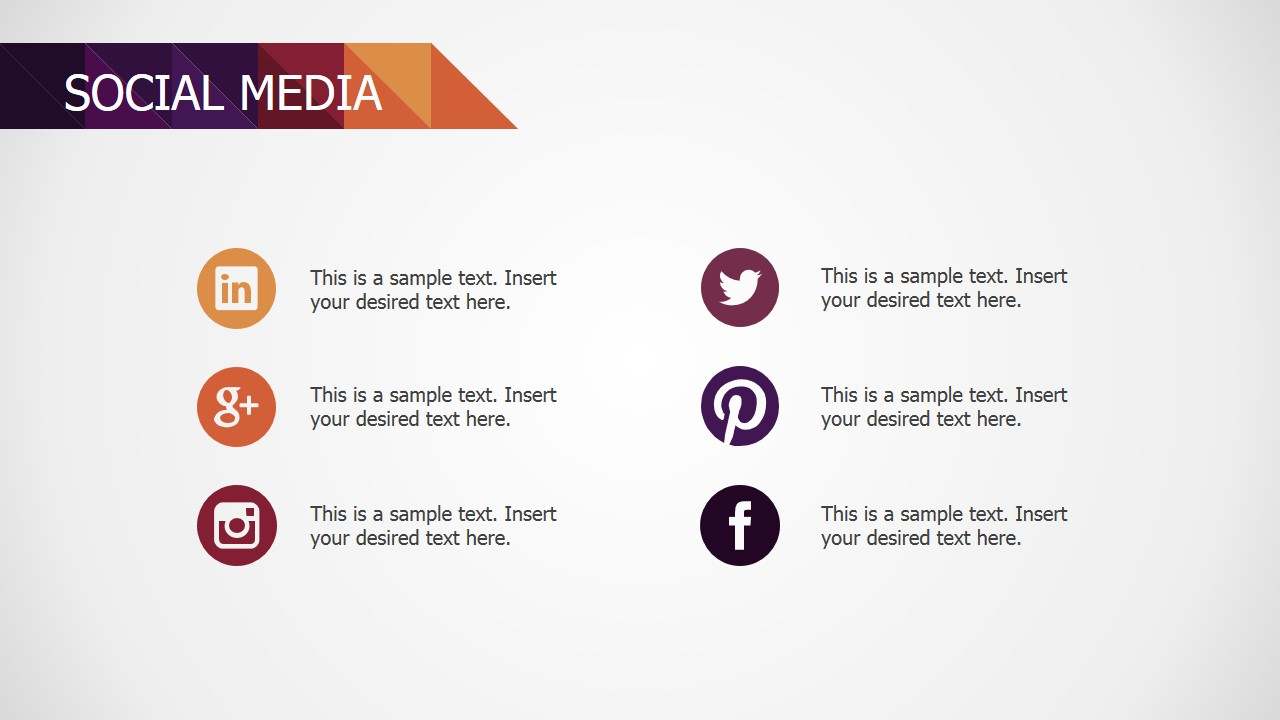 PowerPoint Social Networks Contact Slide Design for Small Business