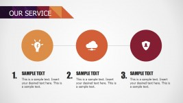 Three Steps Diagram to Describe Small Business Services