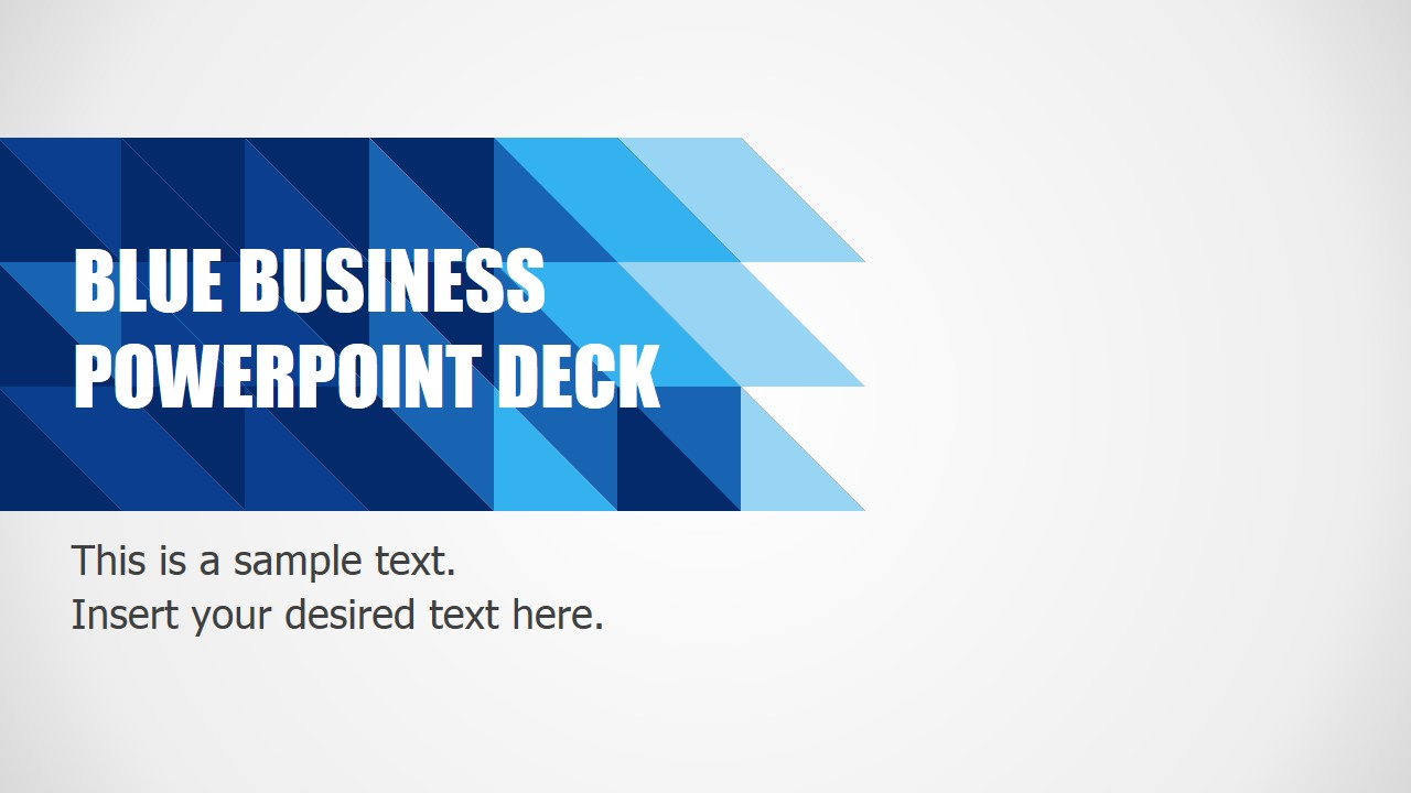 blue business powerpoint template slidemodel