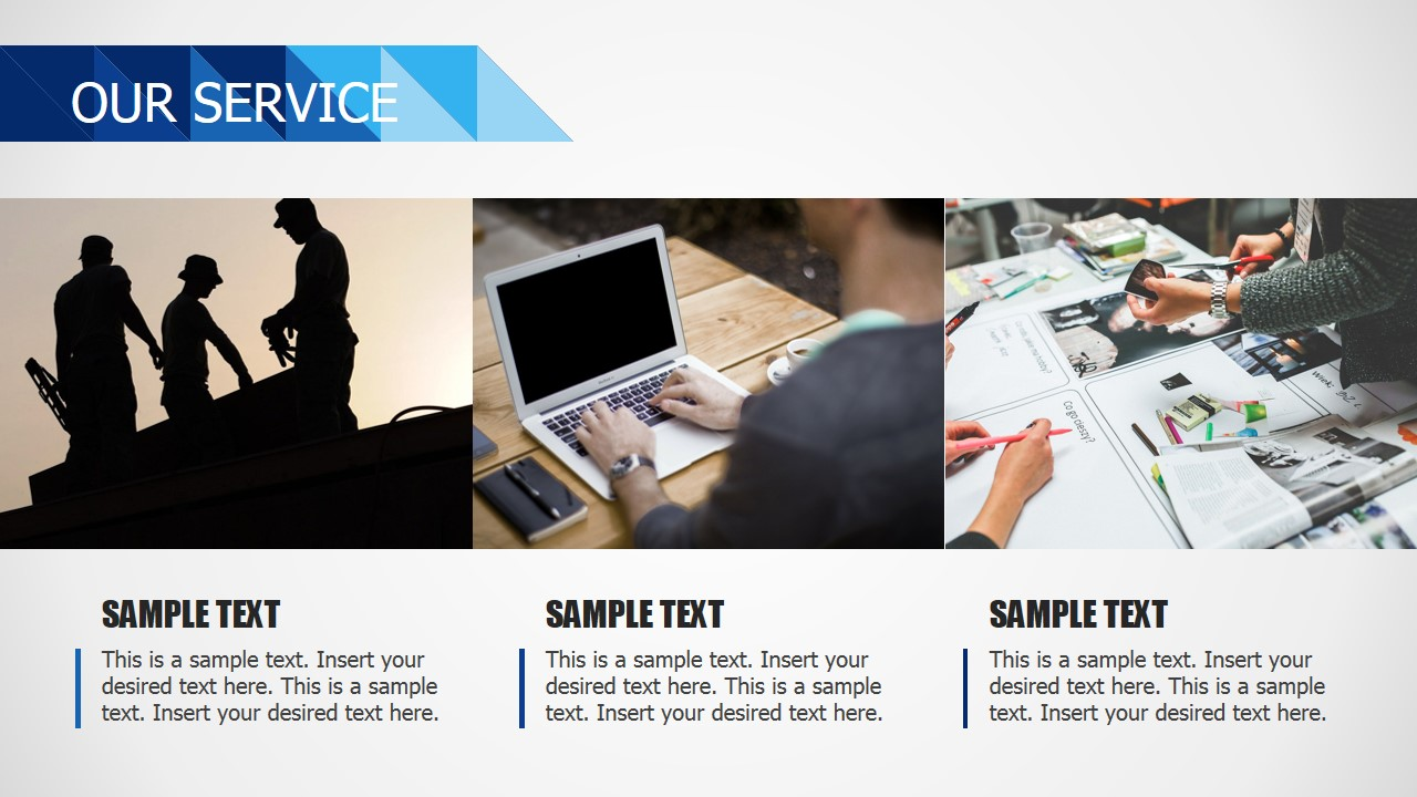 Three Tiles Business Template Our Services
