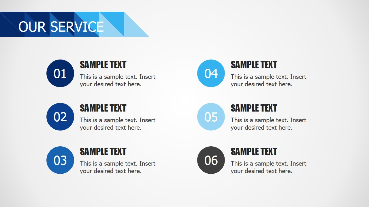 Blue business powerpoint template slidemodel ppt template list services accmission Images