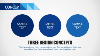Concept Slide with Three Circles