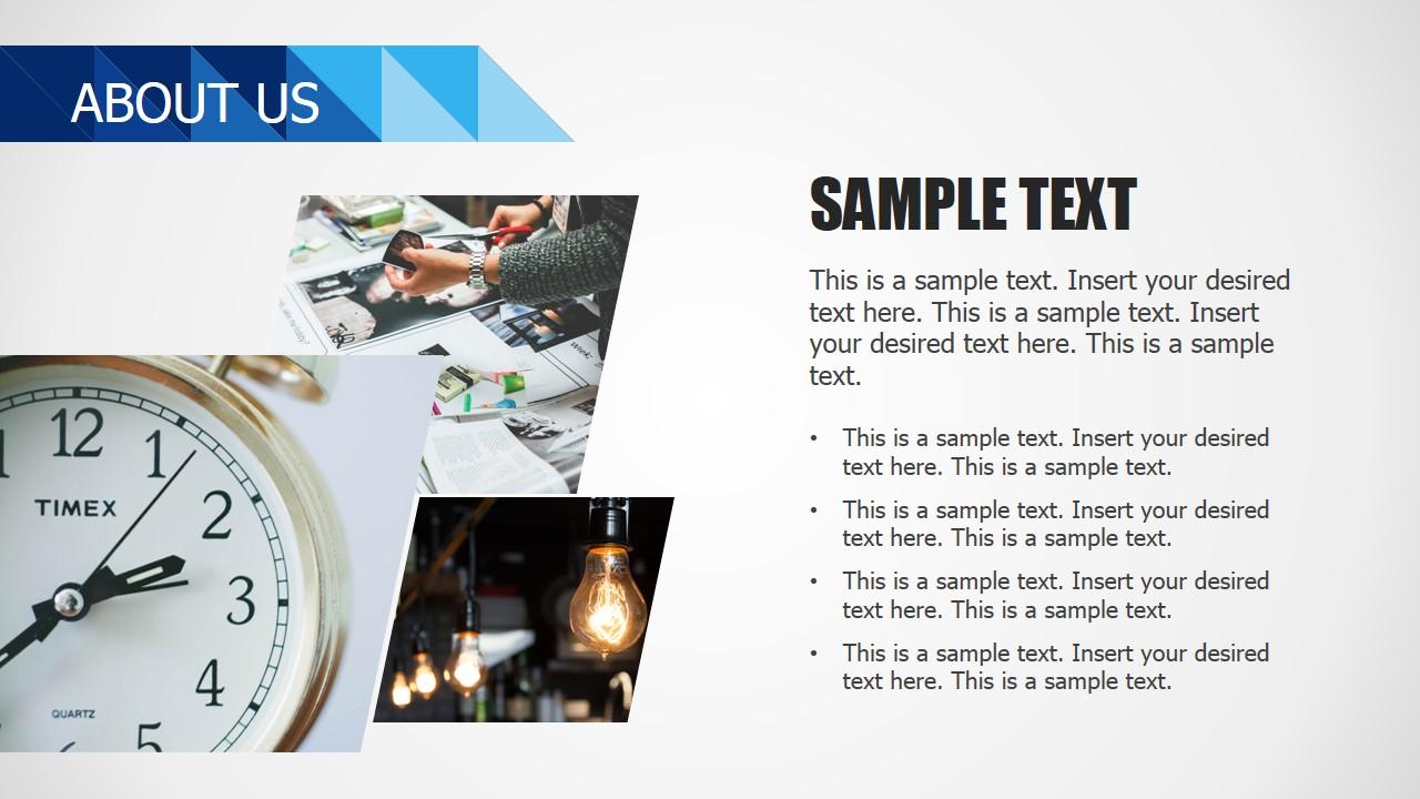 PPT Slide Design List About Us