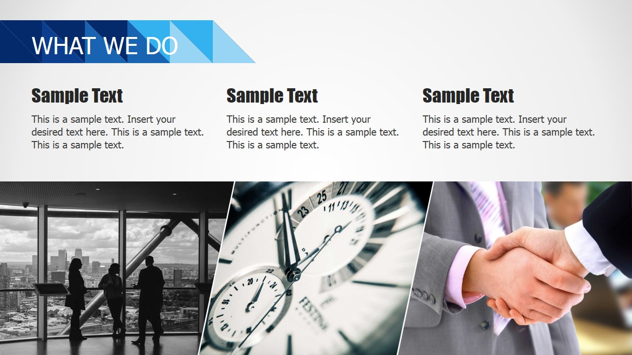 PPT Template What We Do Concept Slide