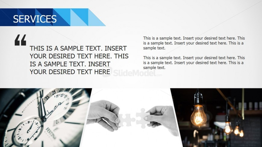 PowerPoint Background Images for Services Testimonials