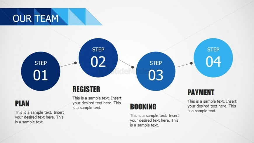 Business Process Three Steps for PowerPoint