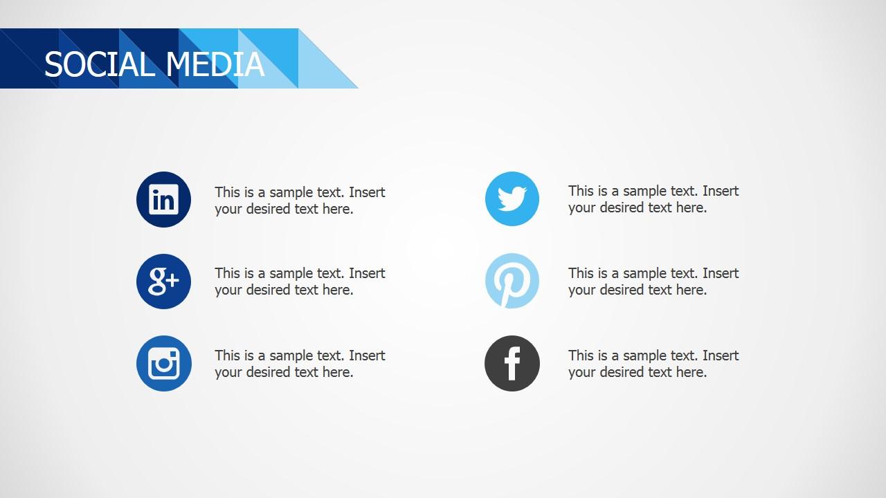 PPT Blue Deck Social Media Slide Design