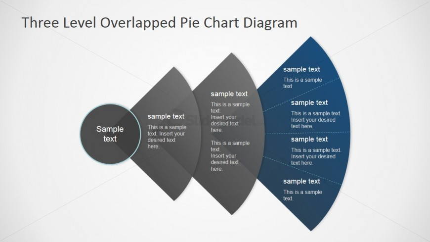 PowerPoint Diagram with Overlapped Transparent Segments