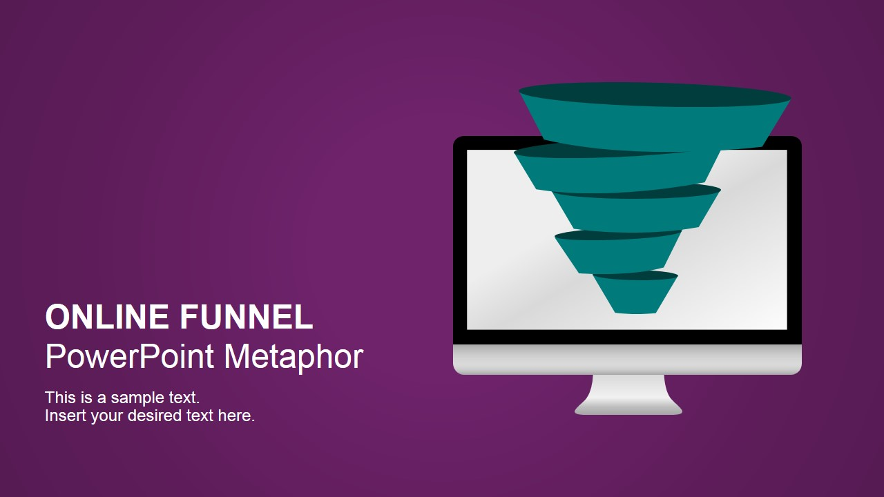Purchase funnel powerpoint templates online sales funnel metaphor shapes for powerpoint toneelgroepblik Image collections