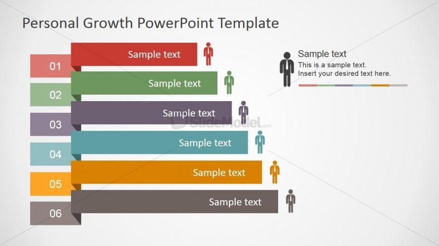 PowerPoint Folded Labels Shapes for Personal Development Plan