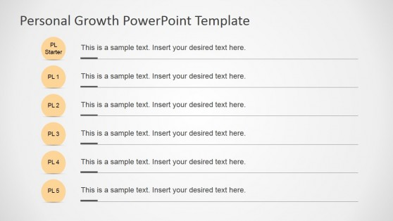 Personal Growth Plan Milestones for PowerPoint