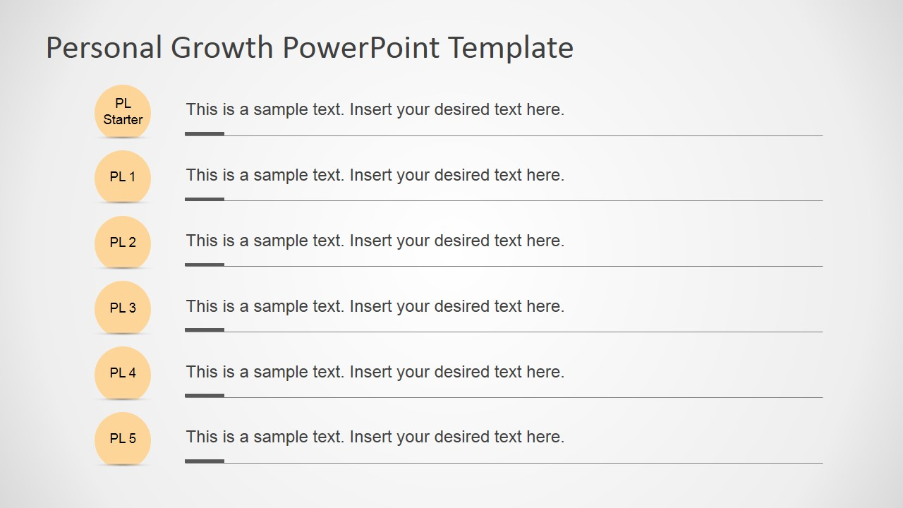 Personal Growth PowerPoint Template SlideModel - Personal roadmap template