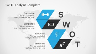 Blue SWOT Analysis PPT Slide Design