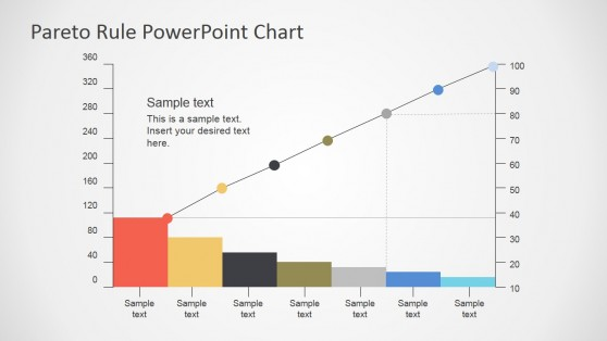 Static Pareto Chart Flat Design for PowerPoint