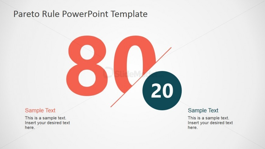 Pareto principle 80 20 metaphor for powerpoint slidemodel pareto principle 80 20 metaphor for powerpoint ccuart Image collections
