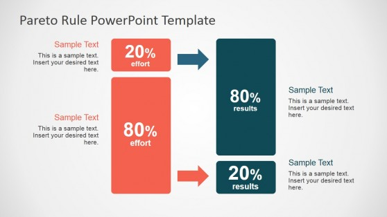 Pareto Principle Block Diagram for PowerPoint