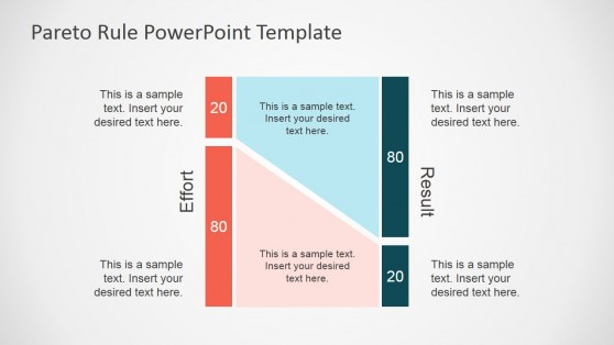 Pareto Principle Clipart Description for PowerPoint