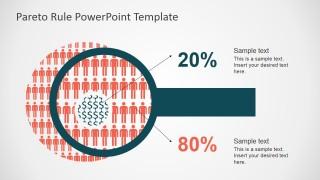 PowerPoint Demographics Shapes Describing Pareto Principle