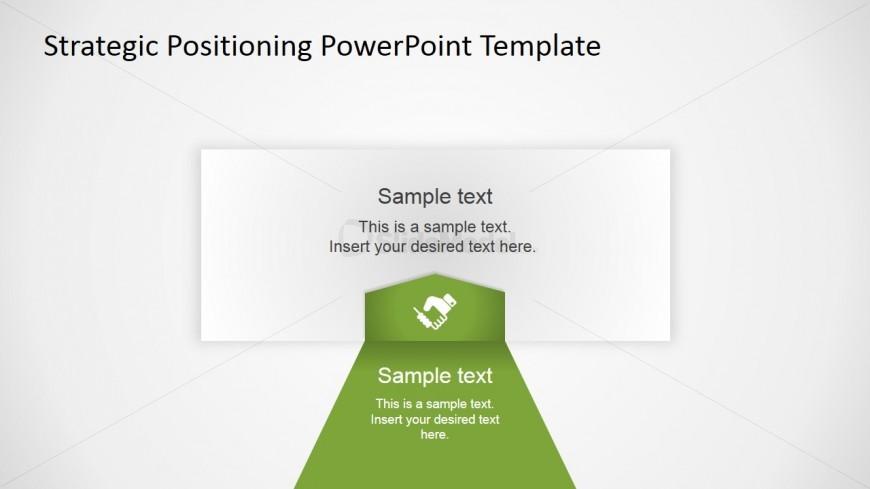 PowerPoint Strategy Quadrant Flat Arrows Design