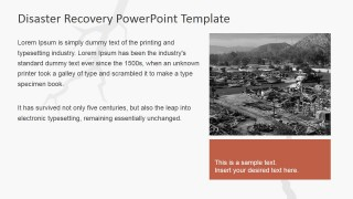 PowerPoint Slide Featuring Earthquake Disaster