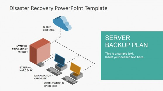 it backup plan template - disaster recovery powerpoint template slidemodel