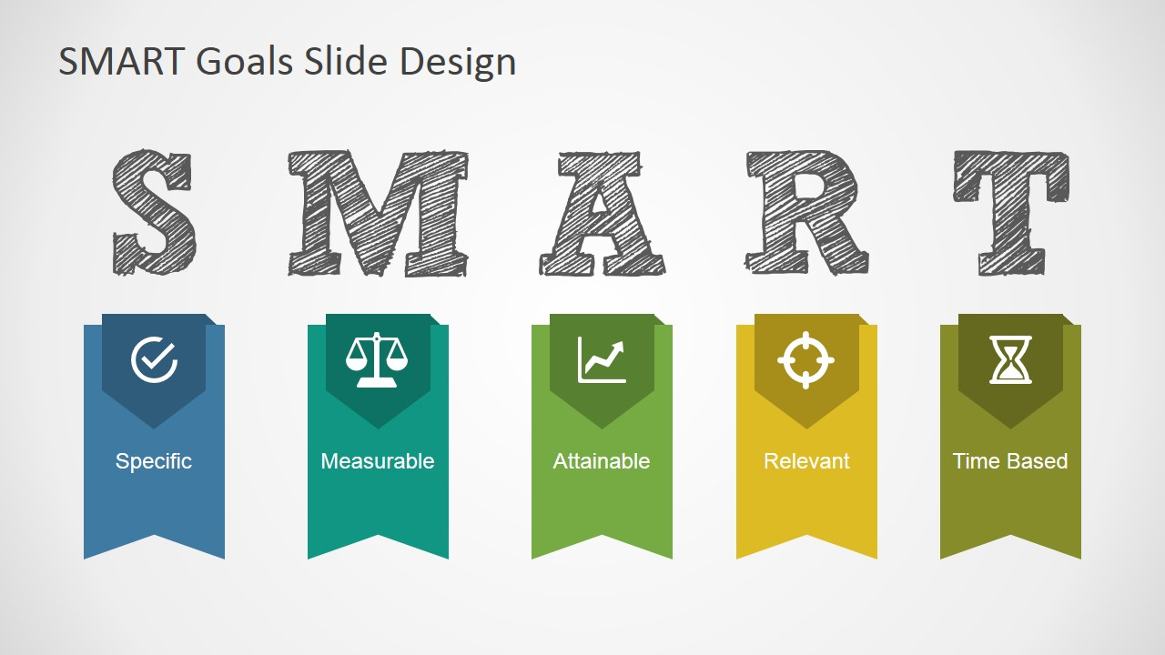 SMART Goals Slide Design for PowerPoint - SlideModel