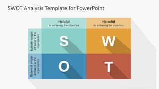 Flat Design SWOT Matrix PowerPoint Template