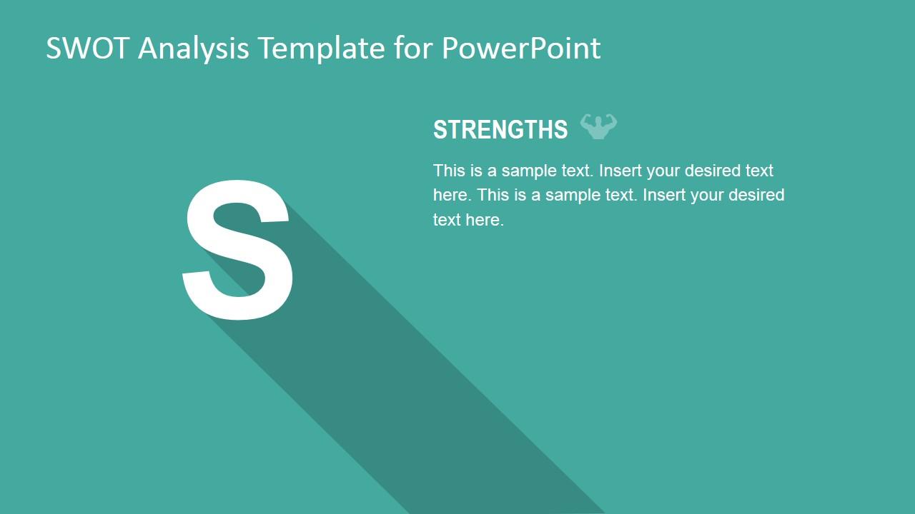 PowerPoint Description Slide for SWOT Strengths