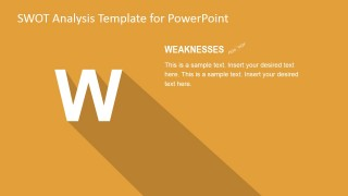 Weaknesses TOWS PowerPoint Slide