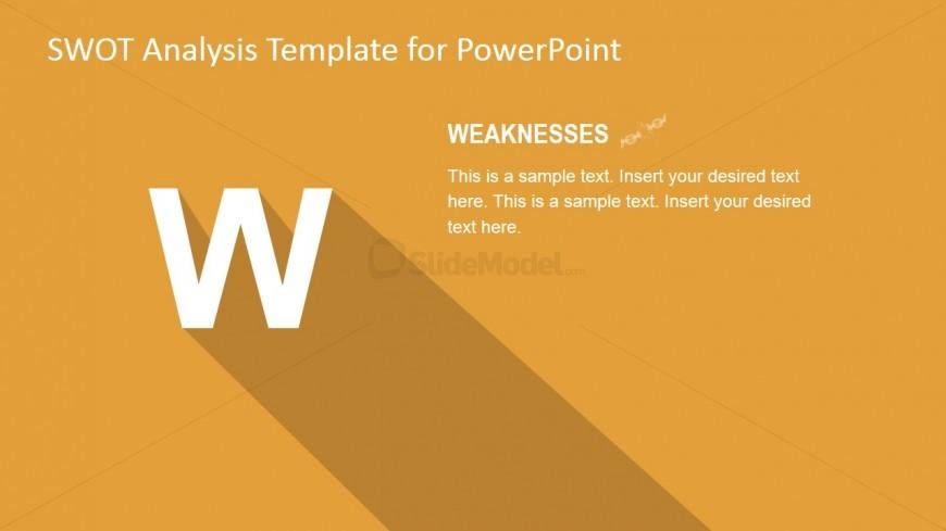 Weaknesses TOWS PowerPoint Slide