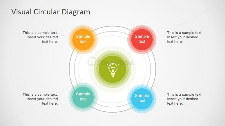 Circular 4 Steps PowerPoint Diagram