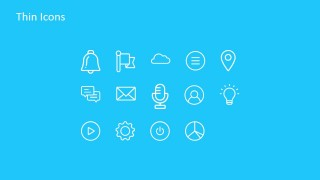 PowerPoint Thin Icons Featuring Technology