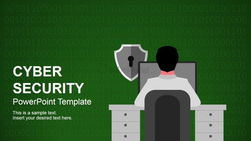 Cyber Security Themed Deck For Powerpoint  Slidemodel