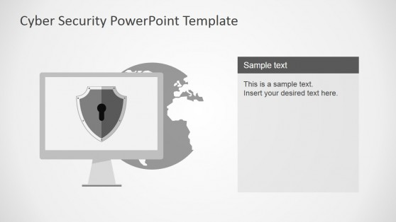 World Shape with Backdoor Theme for PowerPoint